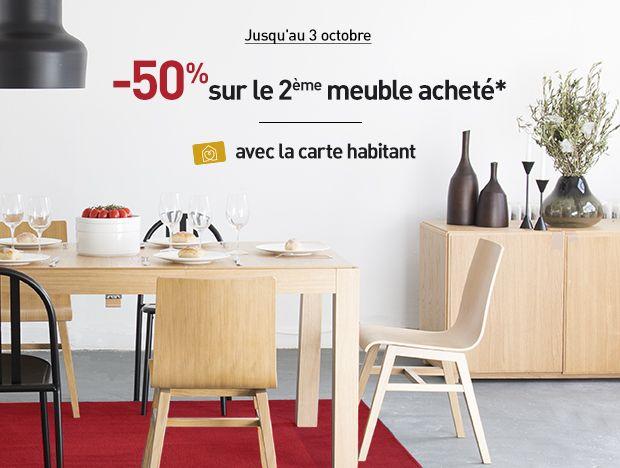 -50% sur le 2eme meuble acheté avec la carte habtiant