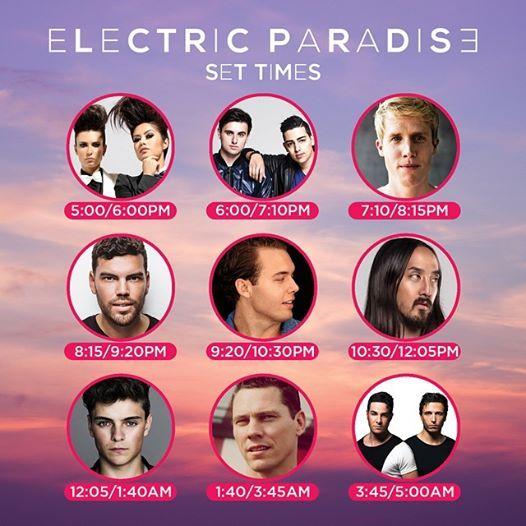 Nuestros DJs para Electric Paradise!