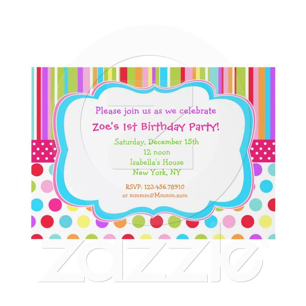 Rainbow Birthday Party Invitations   Rainbow birthday parties ...