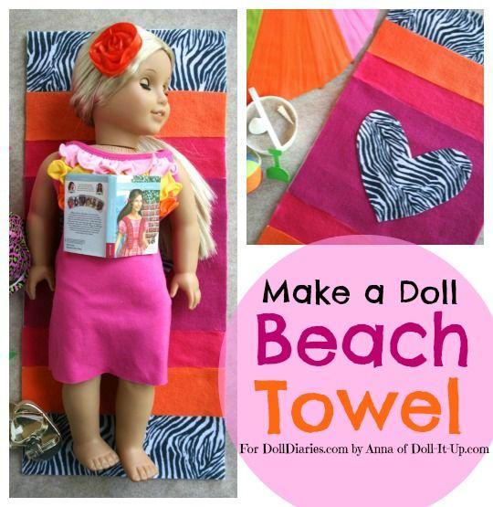 Doll Craft- Make a Doll Beach Towel
