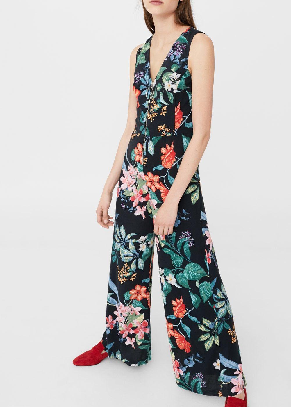 2018 imprimé Mango Tina Shopping Femme en Combinaison en floral wX4WSOxgq