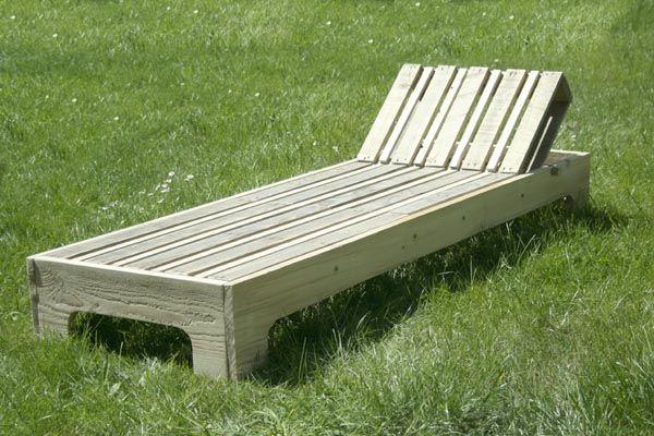 chaise longue en palette transat garden lounge. Black Bedroom Furniture Sets. Home Design Ideas