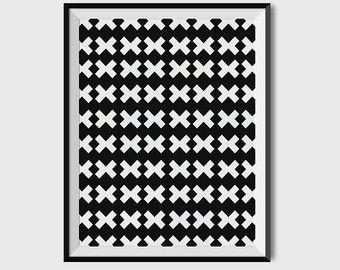 Geometric PrintTriangle Wall ArtTriangle Pattern by 2eggsProject