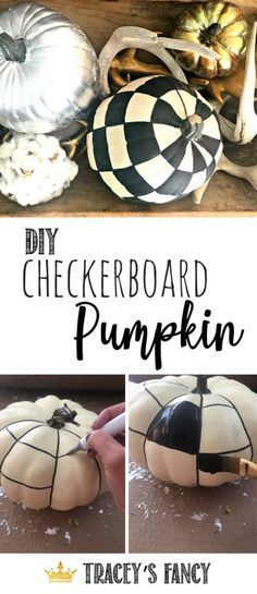 Upscale Farmhouse Painted Pumpkins by #paintedpumpkins