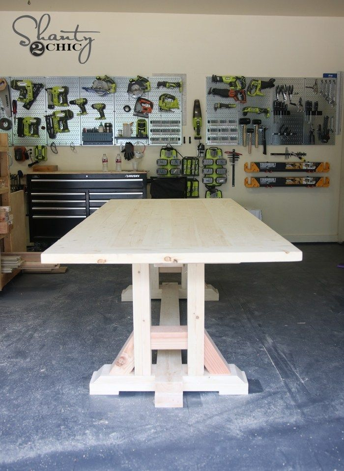 DIY Pottery Barn Inspired Dining Table for $100 images