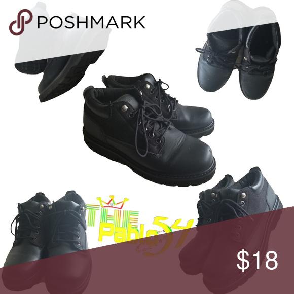 Brahma Banjo Black Leather Soft Toe Work Boots This Item