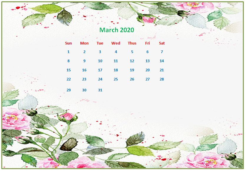 Monthly 2020 Desktop Calendar Wallpapers Calendar