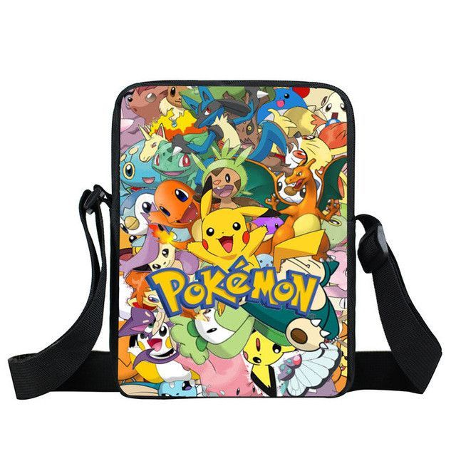 f05aa78bc523 Anime Pokemon Mini Messenger Bag Kids Shoulder School Bags Boys Girls  Bookbag Children cartoon Bag Schoolbags For Snacks Mochila