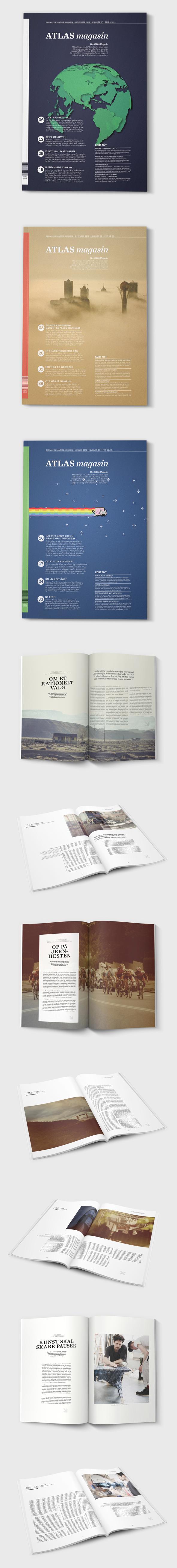 Atlas magazine by Christoffer Birkkjaer