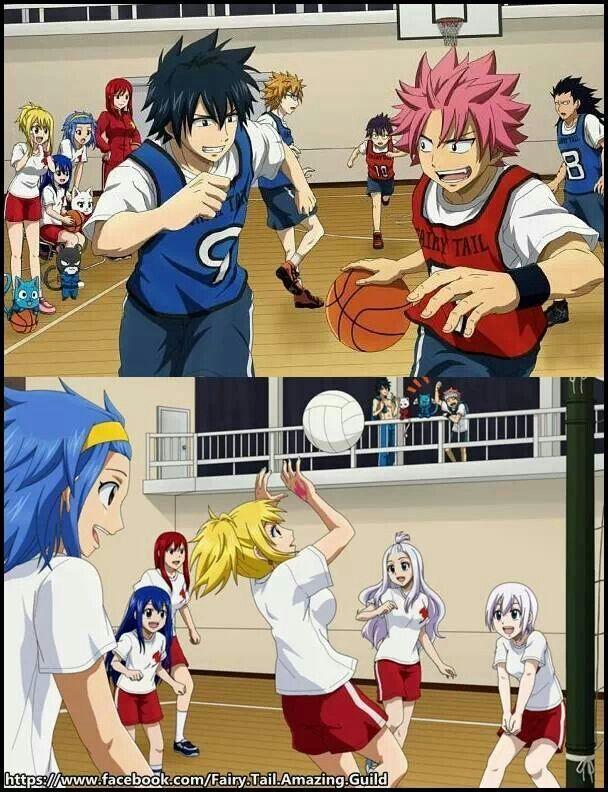 FT playing basketball and Volleyball Anime/manga