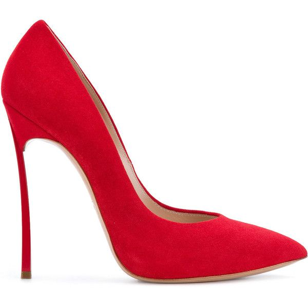 red leather stiletto shoes