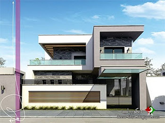 تصاميم منازل فيلات حديثه مودرن تشكيلات روعه Designs Houses Villas Modern تصاميم منازل فيلات حديثه مودرن ت House Styles House Design Design