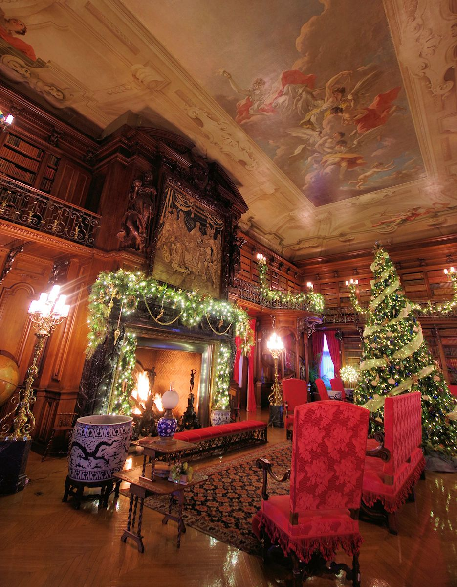 Library Biltmore House Ready Christmas Tours