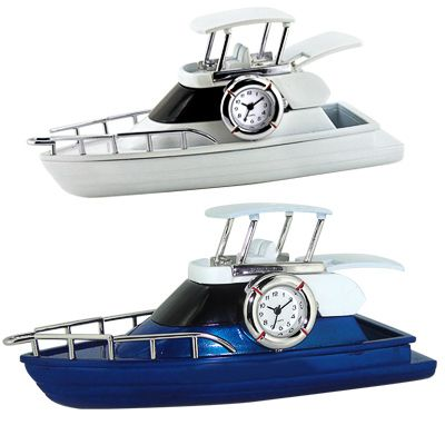 Yacht clock.  Made of die cast metal housing.  Accurate analog quartz movement.