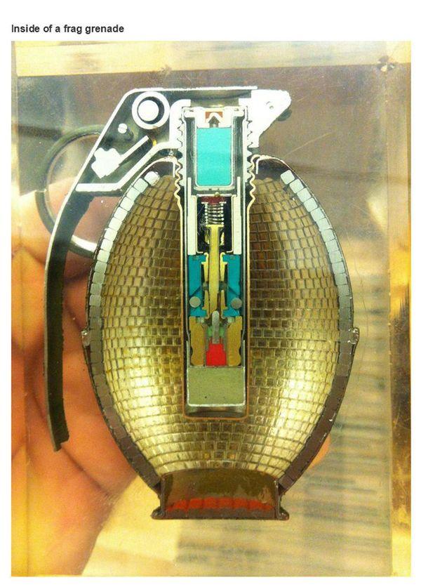 inside of a grenade