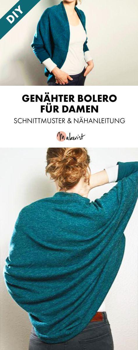 Nähanleitung und Schnittmuster Bolerojacke Simply.4me | Pinterest ...