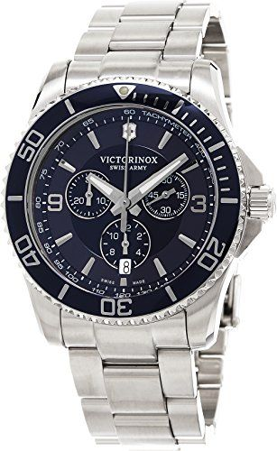bd1de19bc753 Victorinox Men s 241689 Maverick Stainless Steel Bracelet Watch   Check out  this great product.