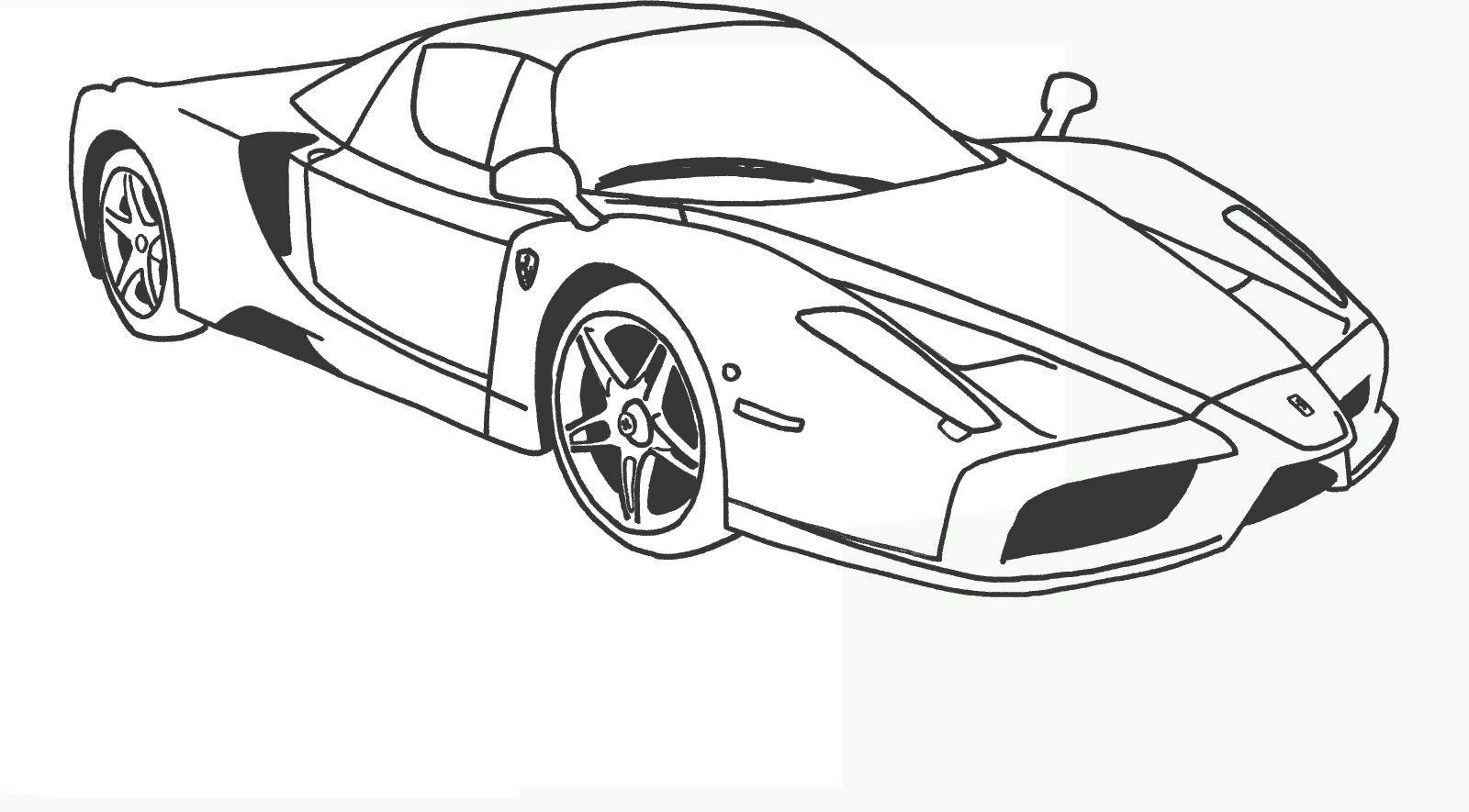 Ferrari 7 Ferrari Coloring Pages
