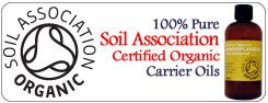 Click here for our 100% Pure Soil Association Certified Organic Carrier Oils