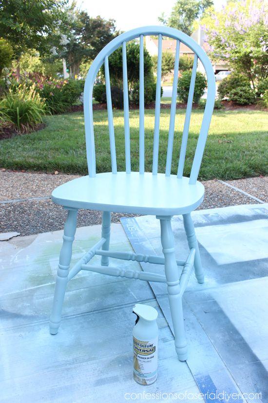 Robinu0027s Egg Blue Rustic Chair