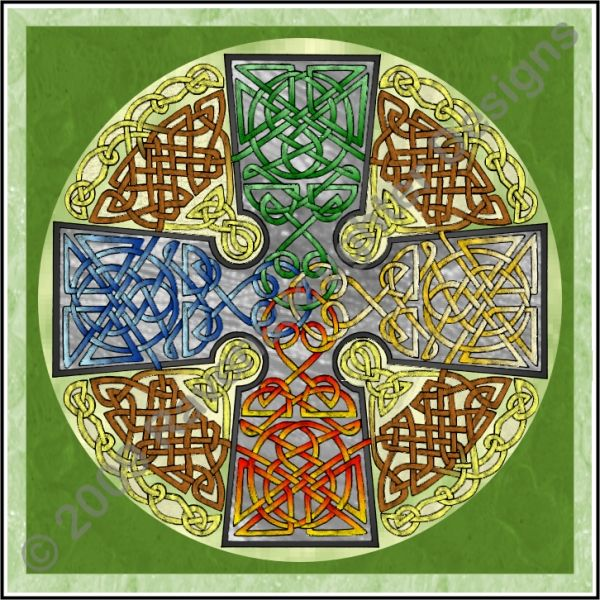 celtic cross with elemental color - Celtic Pictures To Colour