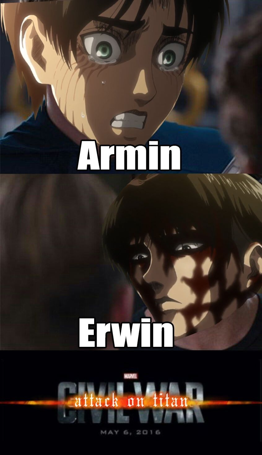 Pin By Slice 5588 On Memes De Anime Attack On Titan 2 Attack On Titan Erwin Attack On Titan