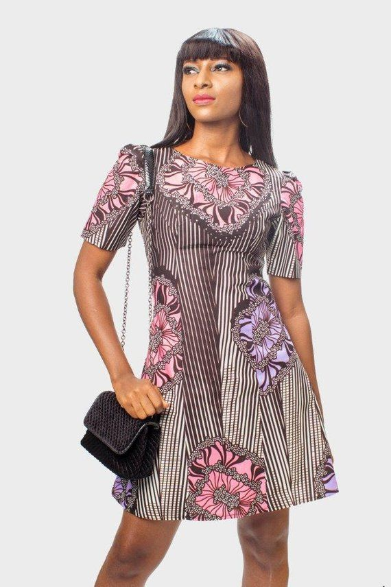 Ankara Sequin Dress, African Print Dress, Ankara Dress, African Clothing for Women, African Dress, African Clothing, African Women Dress #africanprintdresses