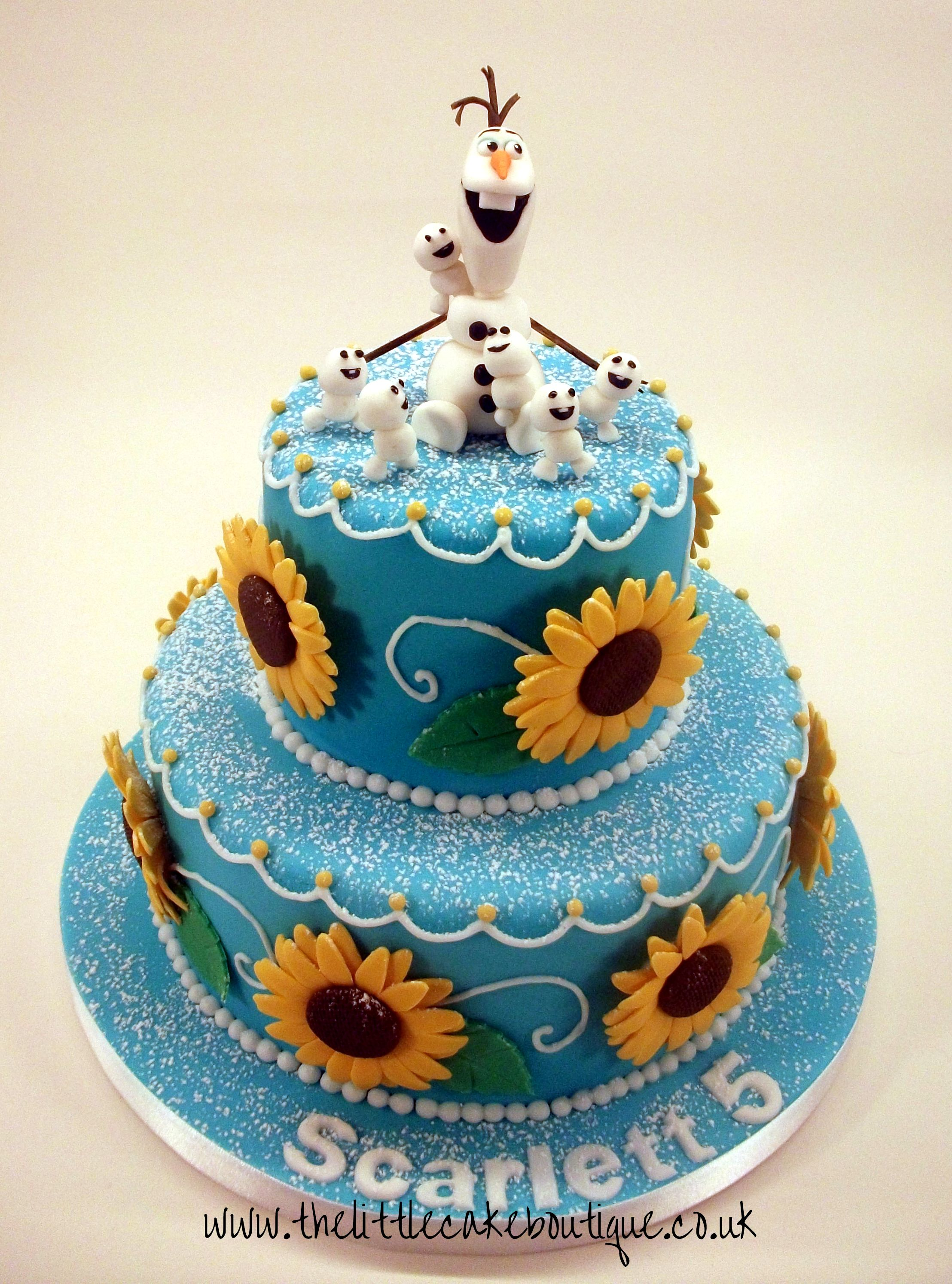 Frozen Fever Inspired by Annas Blue Sunflower Birthday Cake