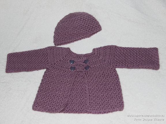Chaquetas de bebe a crochet