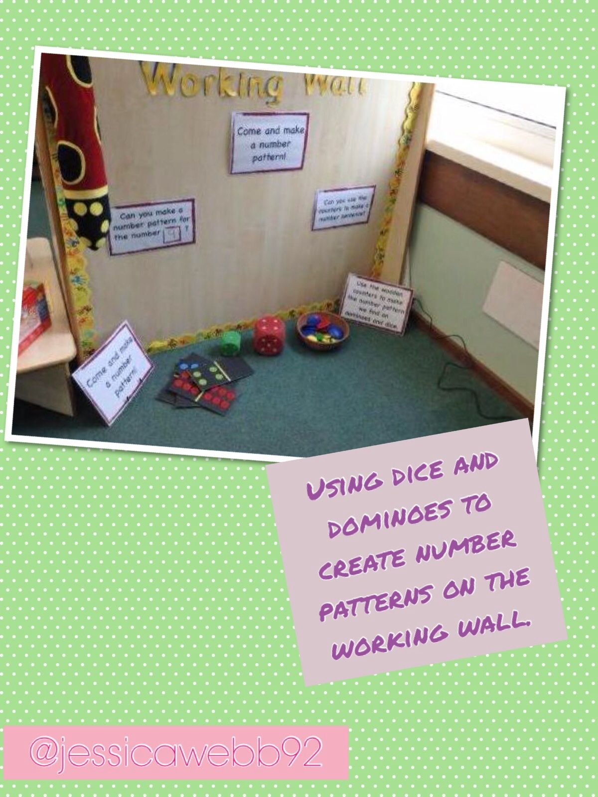 Making Number Patterns On The Working Wall Use Wooden