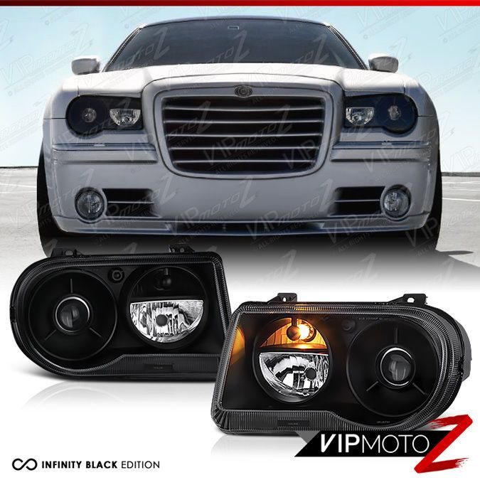 2005 2010 Chrysler 300c Srt8 Limited Lujo Black Front Headlight