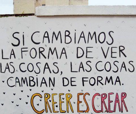 Creer es crear.