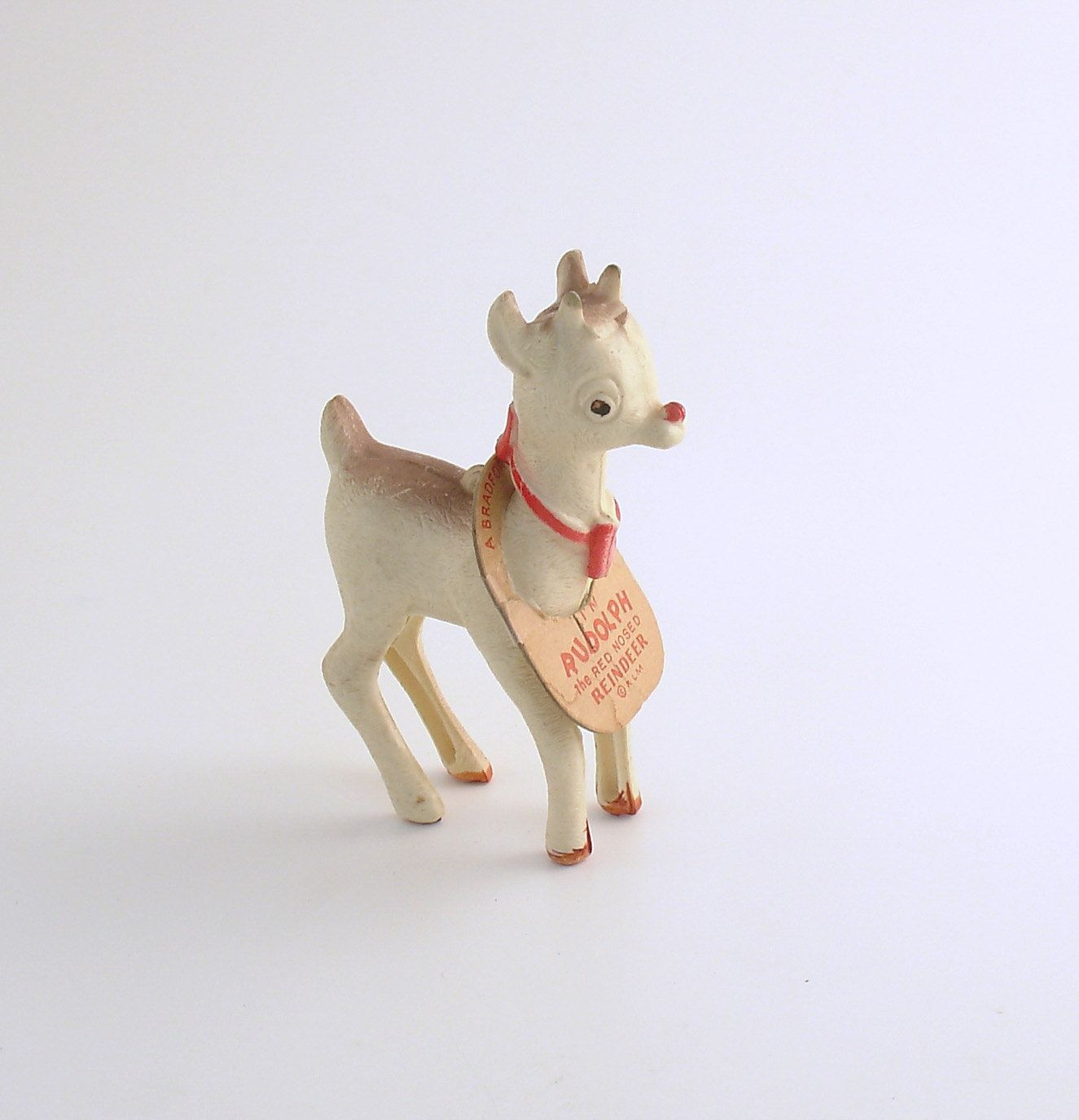 Vintage Christmas Ornament Rudolph the Red Nosed Reindeer Christmas Decoration by efinegifts on Etsy