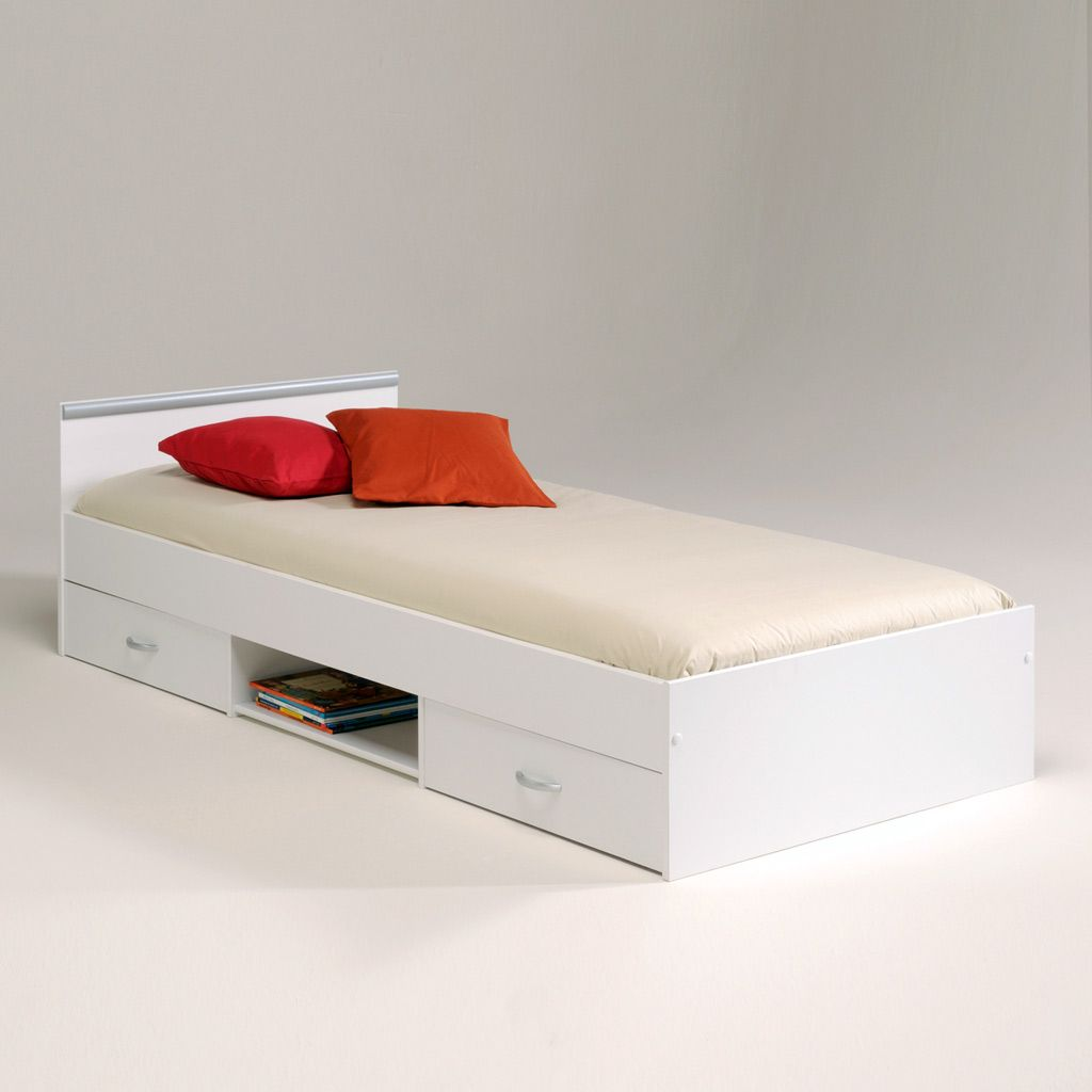 Modern single bed designs with storage - Inspo Modern Single Bed With Storage For Saving Space Picture