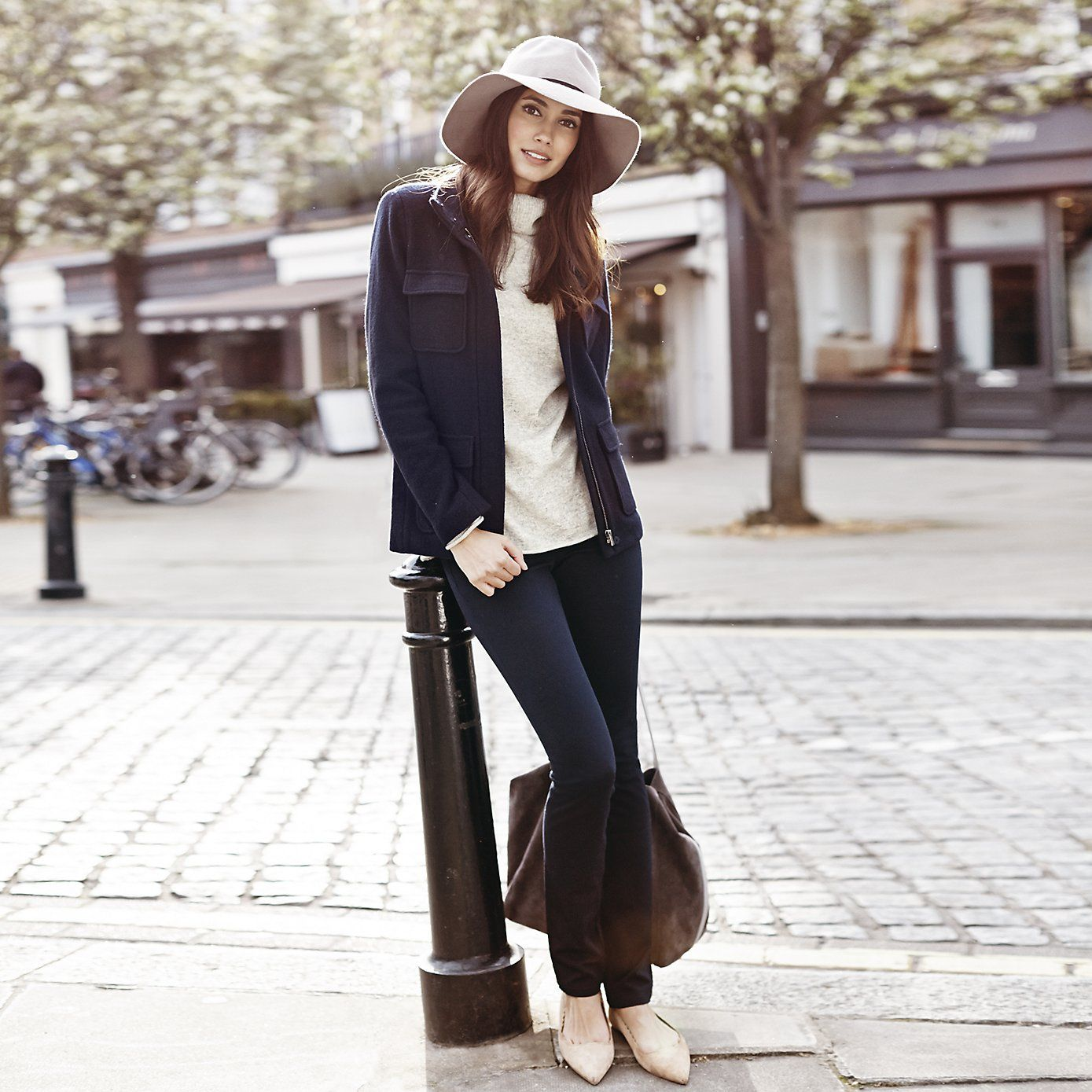 Boiled Wool Pocket Jacket | The White Company. Shopping from the ...