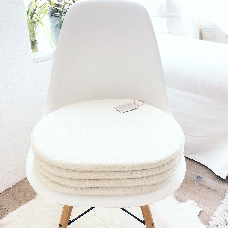 Sitzkissen Passend Für Eames Chair In Wollweiß Etsy Sitzkissen Eames Panton Chair