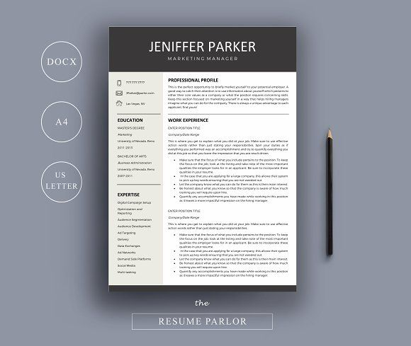 Resume 4 Page A4 + US Letter Sizes @creativework247 Resume - resume references page