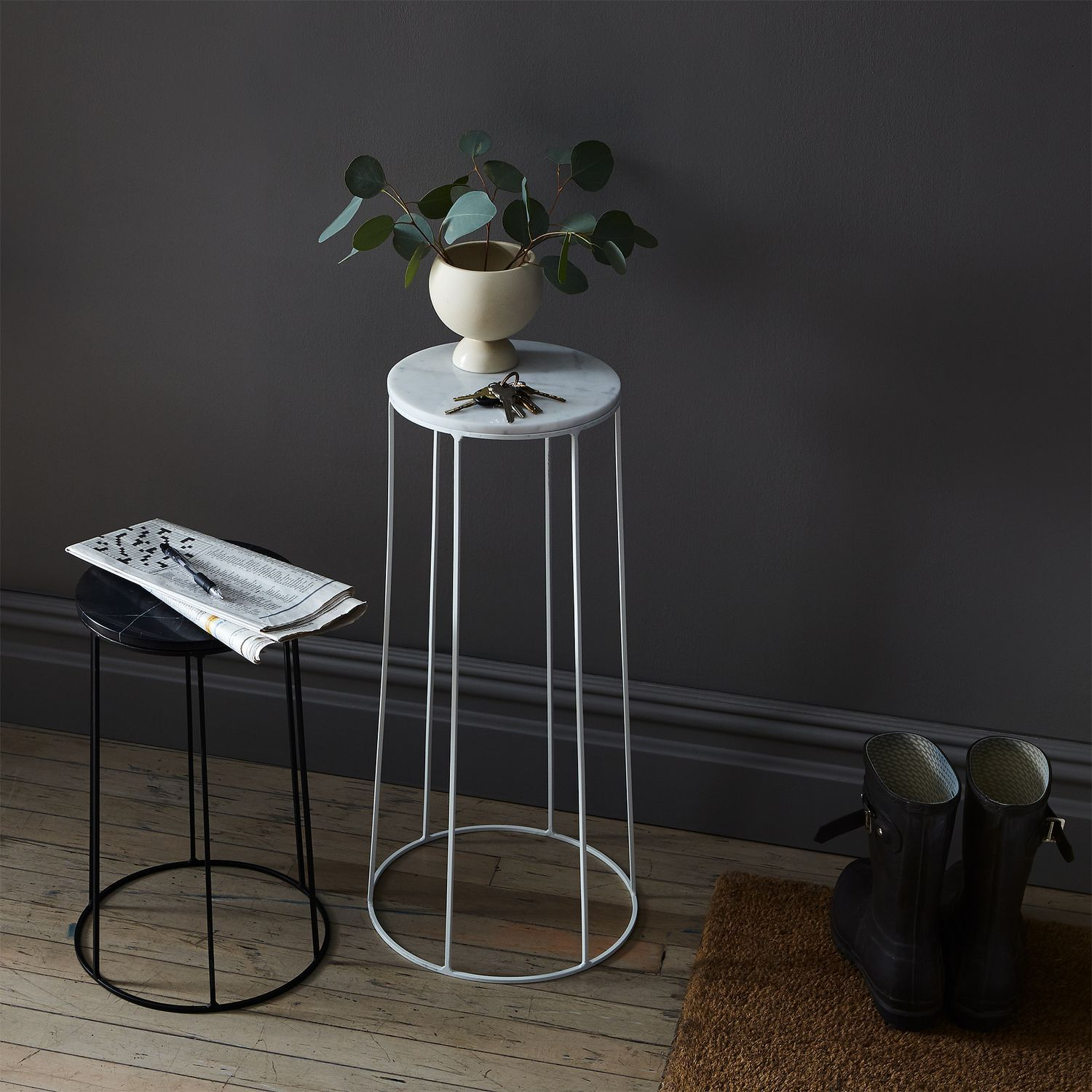 Marble-Topped Wire Side Table on Food52 | Home & Design | Pinterest