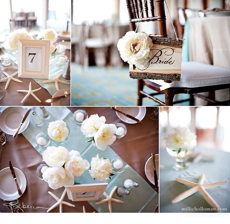 beach wedding table setting - create a colorful table runner and ...