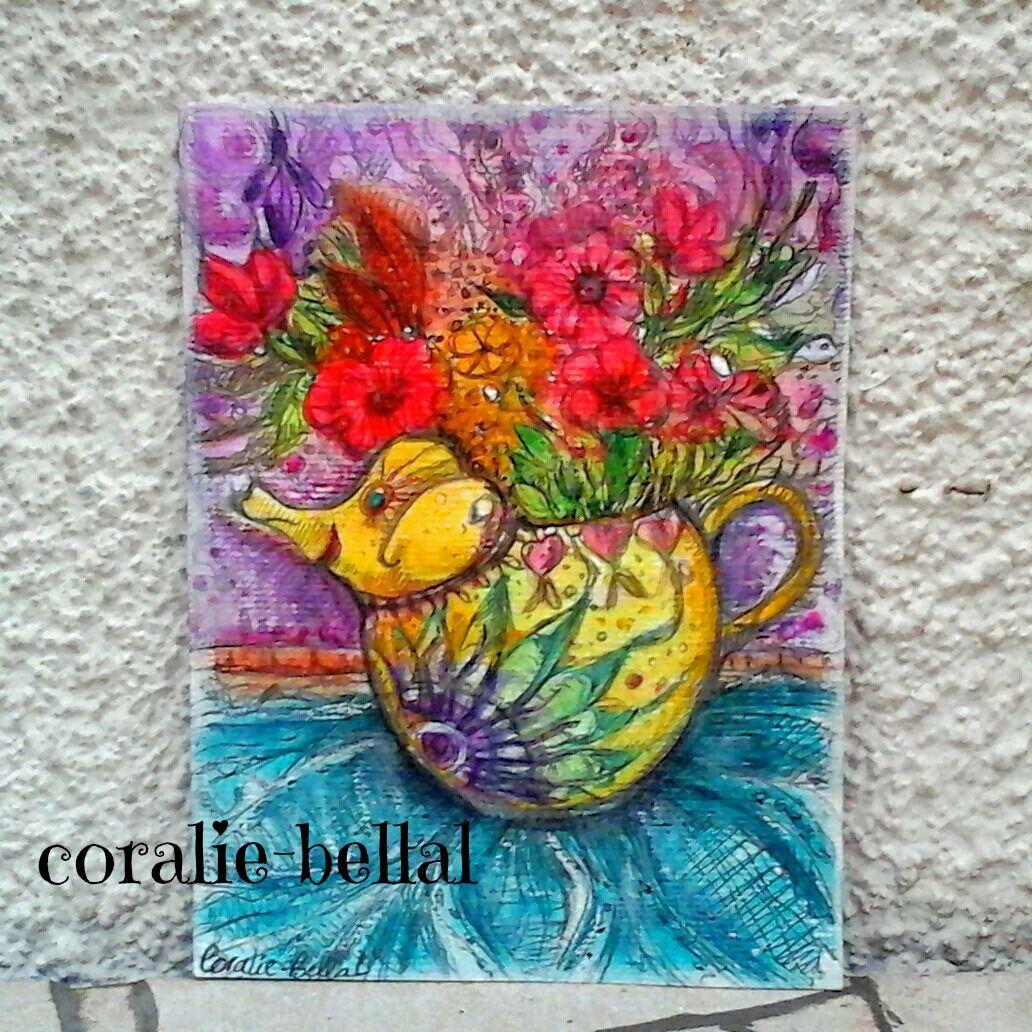 Commande sp ciale peinture l phant th i re peinture for Commande fleurs par internet