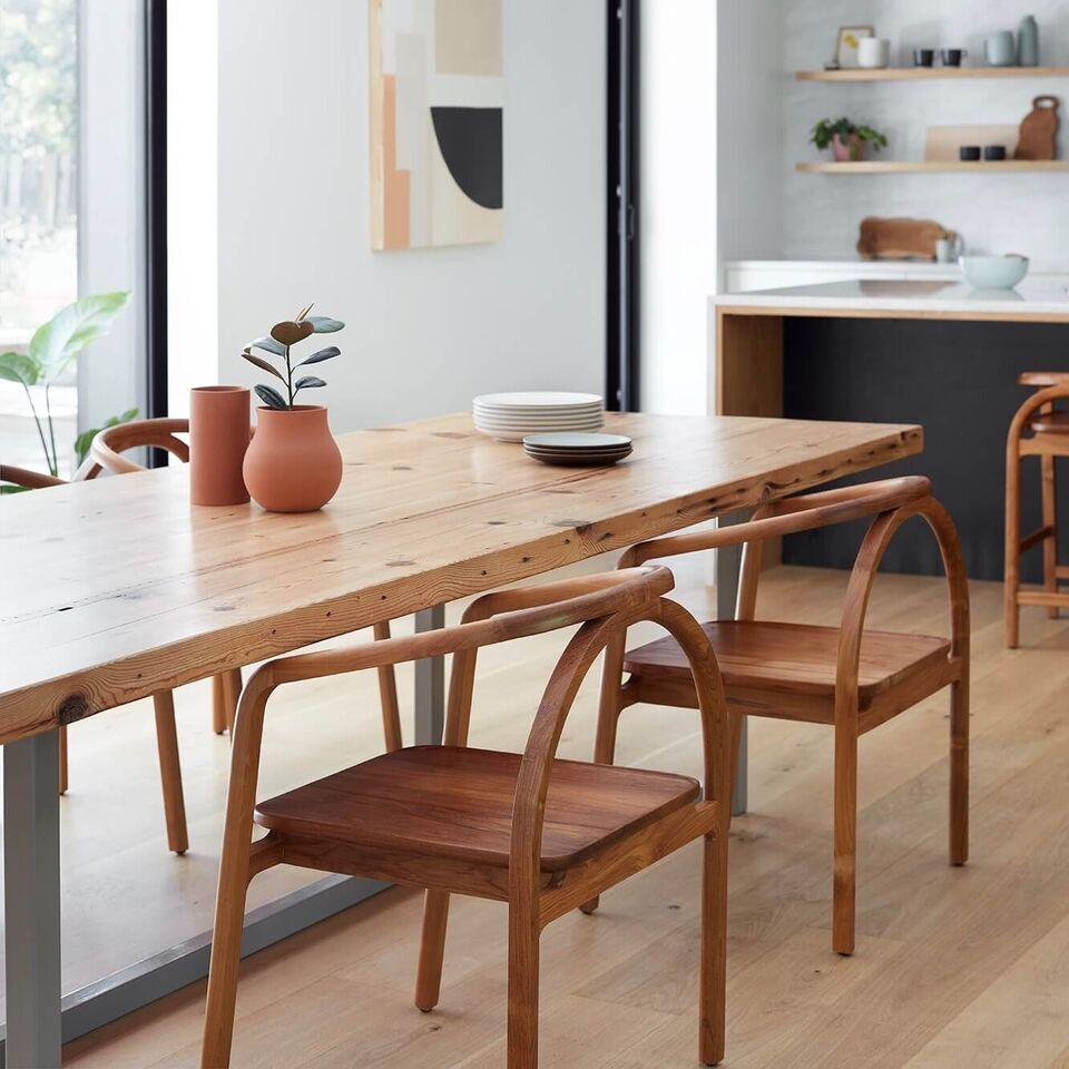 Teak Wishbone Chair Sustainably Crafted In Indonesia Retro Dining Chairs Mixed Dining Chairs Dining Chairs