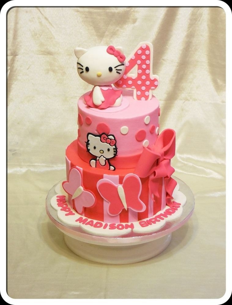 Terrific Hello Kitty Birthday Cake Hello Kitty Birthday Cake Hello Kitty Personalised Birthday Cards Cominlily Jamesorg