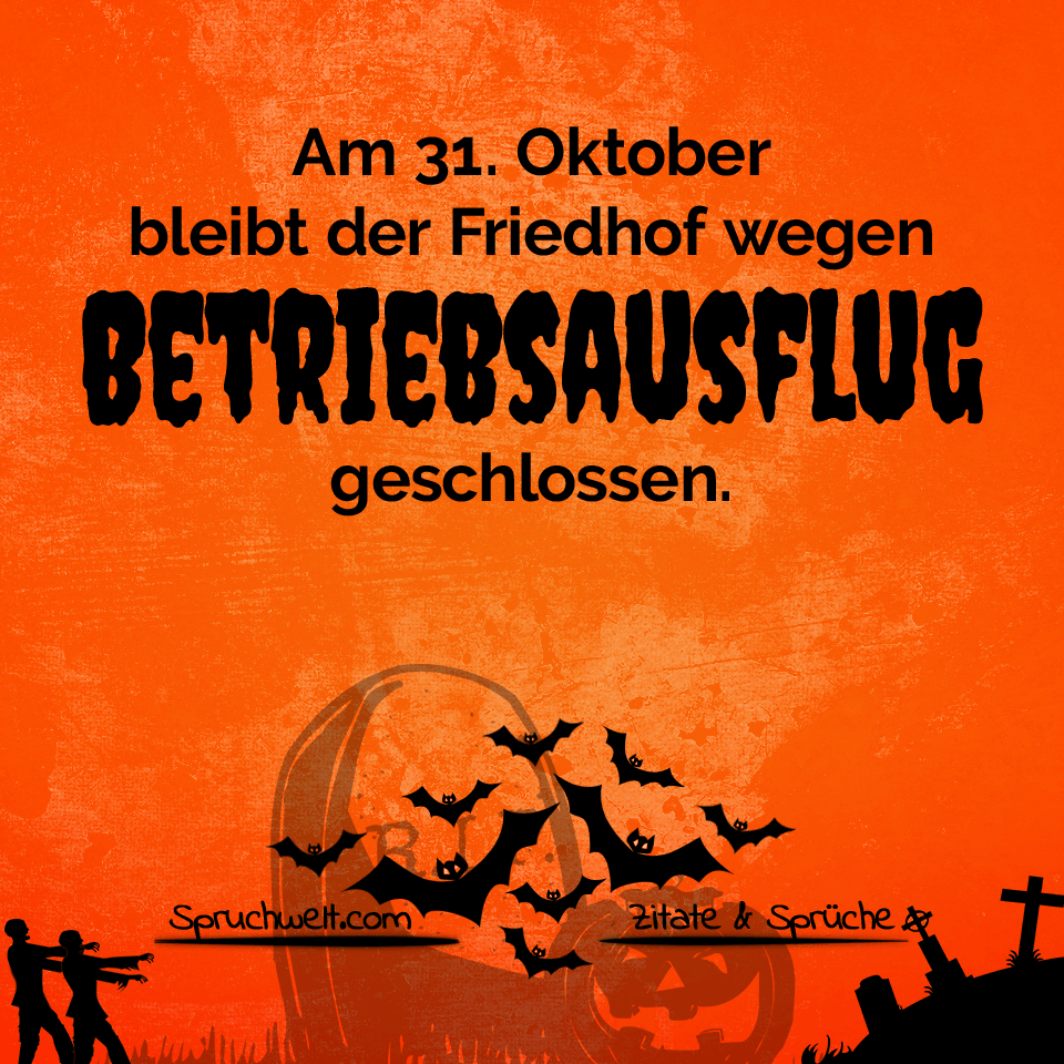 Schaurig Schönes Halloween Friedhof Wegen Betriebsausflug