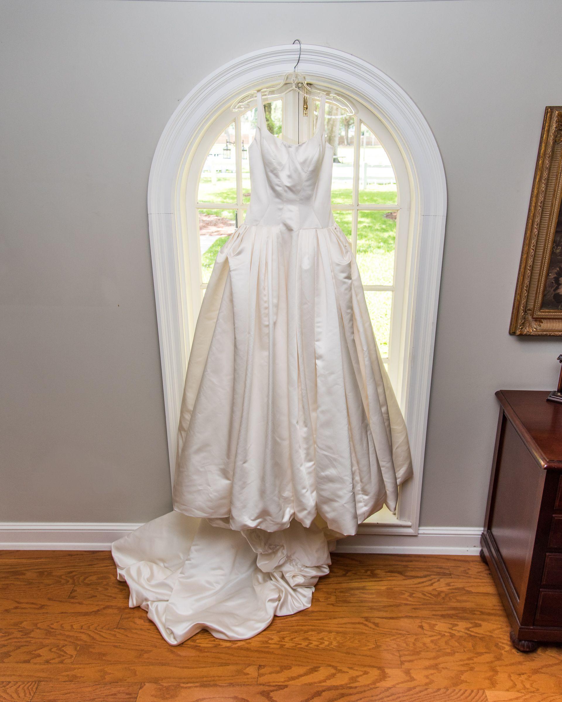 Ball Gown In Window At Casa Lantana Brandon FloridaBall GownsDestination WeddingsWedding