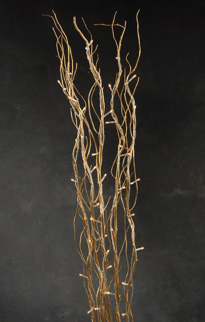 Willow Branches Gold With Lights 39in Save 48 Glowing Centerpieces Willow Branches Tall Floral Arrangements