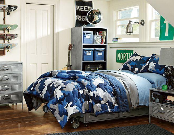 I love the PBteen Locker Camo Bedroom on pbteen.com ...
