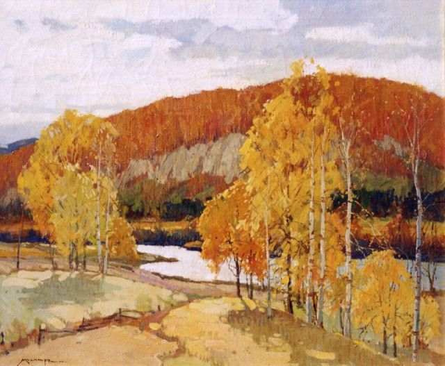 fredrick mulhaupt paintings | Frederick John Mulhaupt - Autumn