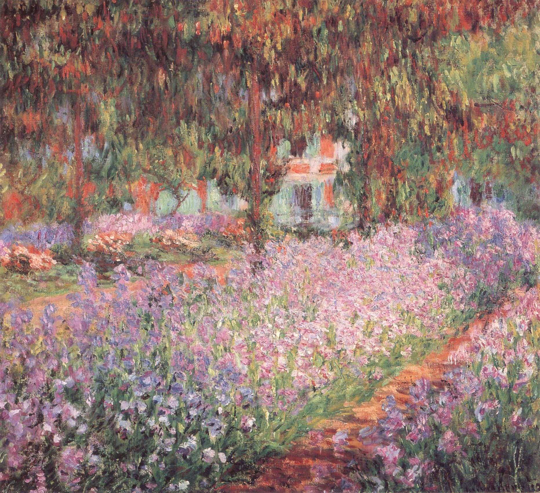 Claude the artists garden at giverny 1900 oil