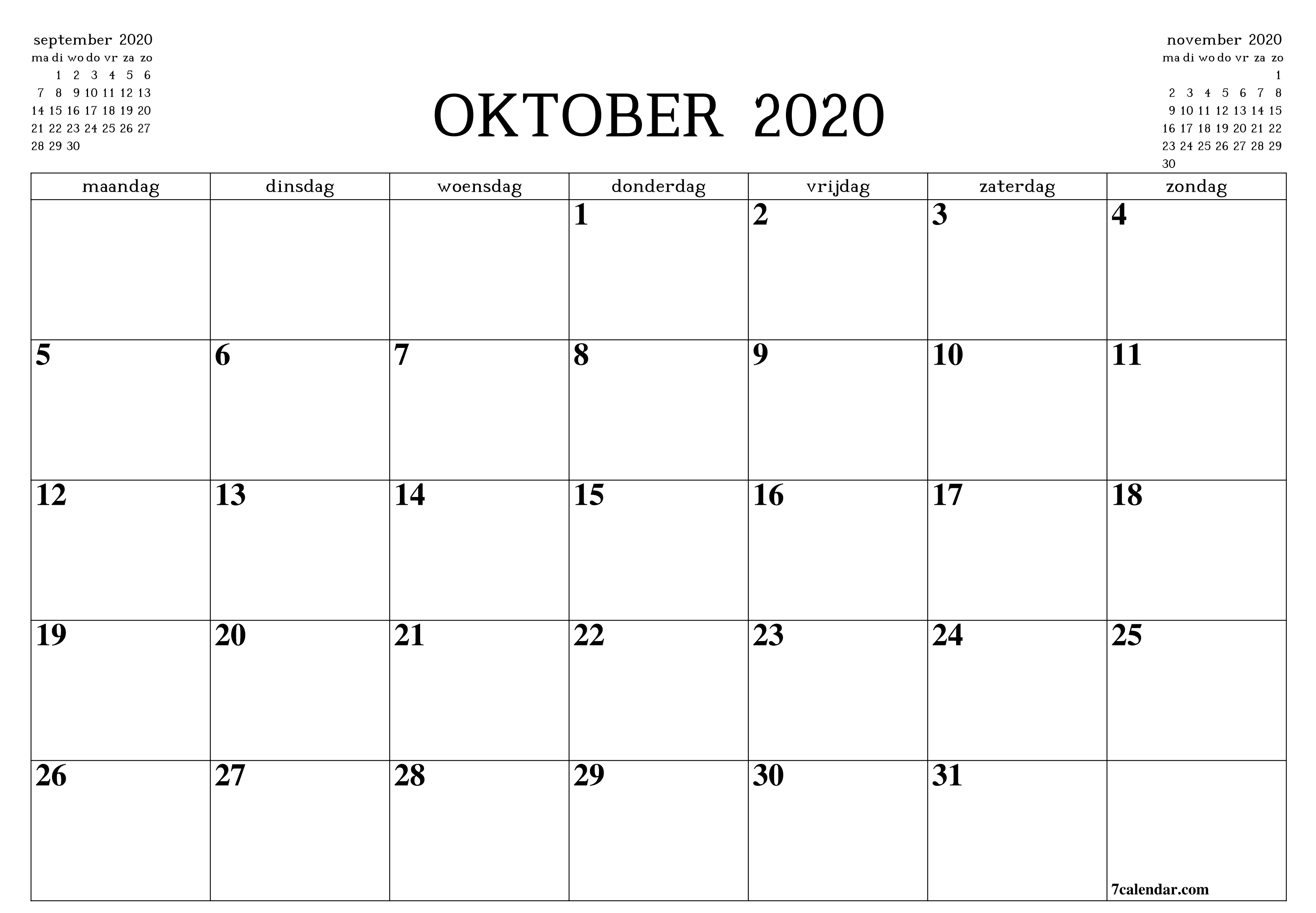 Pin On Free Monthly Calendar