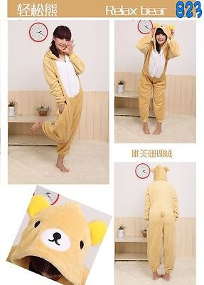 Precioso Kigurumi Pijama unisex ropa de noche vestido de Cosplay Animal Onesie G